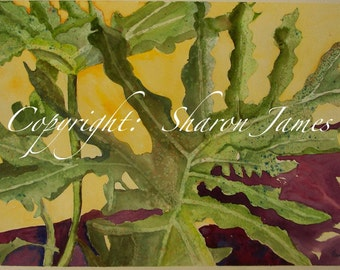 Phrilly Phil - Original Watercolor Painting, 19.5 x 13 inches, by Sharon James