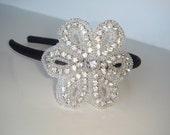 Rhinestone Headband, Headband, Flower Headband-Posey, Crystal headband, hair acccessory, rhinestone flower headband, bridal accessories