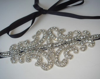 Hair Accessories, wedding accessories, rhinestone accessories, rhinestone headband, headpiece- ELLE, bridal accessories, New Year's