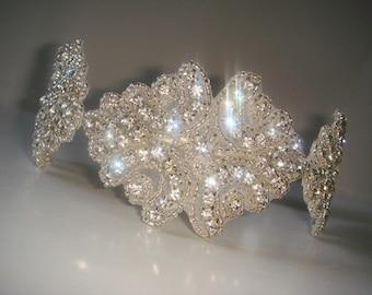 Bridal Headpiece, Rhinestone Headband-Duchess, Headband, Bridal Headband, Wedding Headpiece, Crystal Headband