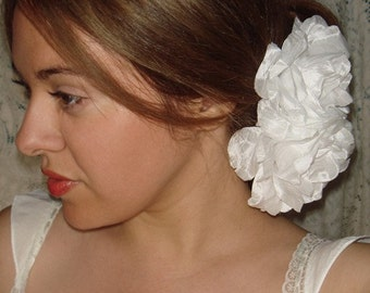 Bridal Headpiece- SOPHIE, Wedding, Flower Hair Clip, White Flower,  Bridal, Accessories, Bridesmaid, Wedding, Hair, Hair Accessory