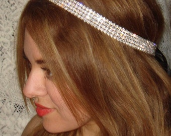Wedding Headband, Rhinestone Headband- Rock Candy, Weddings, Headbands, Wedding Headpiece, Rhinestone Headband,Bridal Accessories
