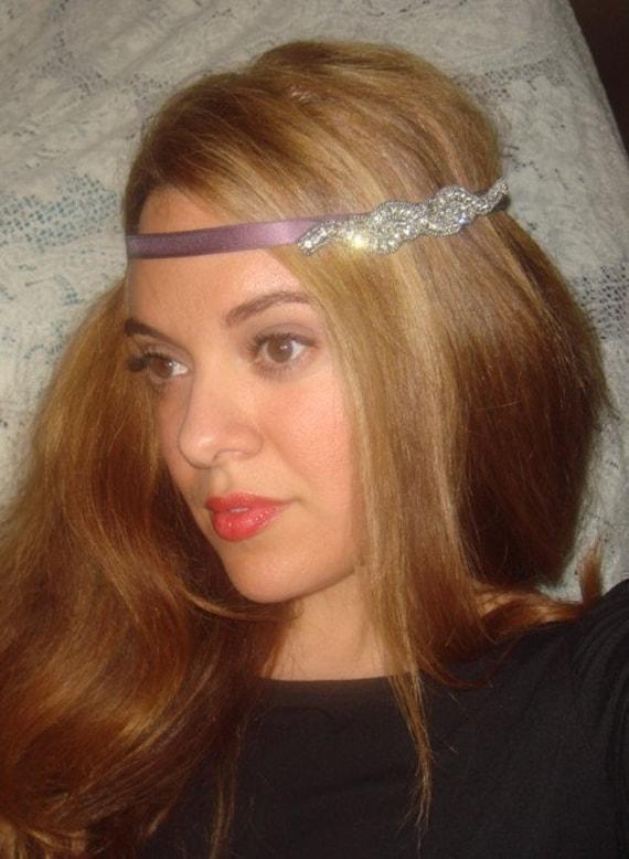 Hair Accessories, Headband- Bejeweled, Weddings, Rhinestone Headband, Halo Headband, tie on, crystal headband, hair