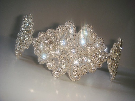 Bridal Headpiece, Rhinestone Headband-Duchess, Headband, Bridal Headband, Wedding Headpiece, Crystal Headband