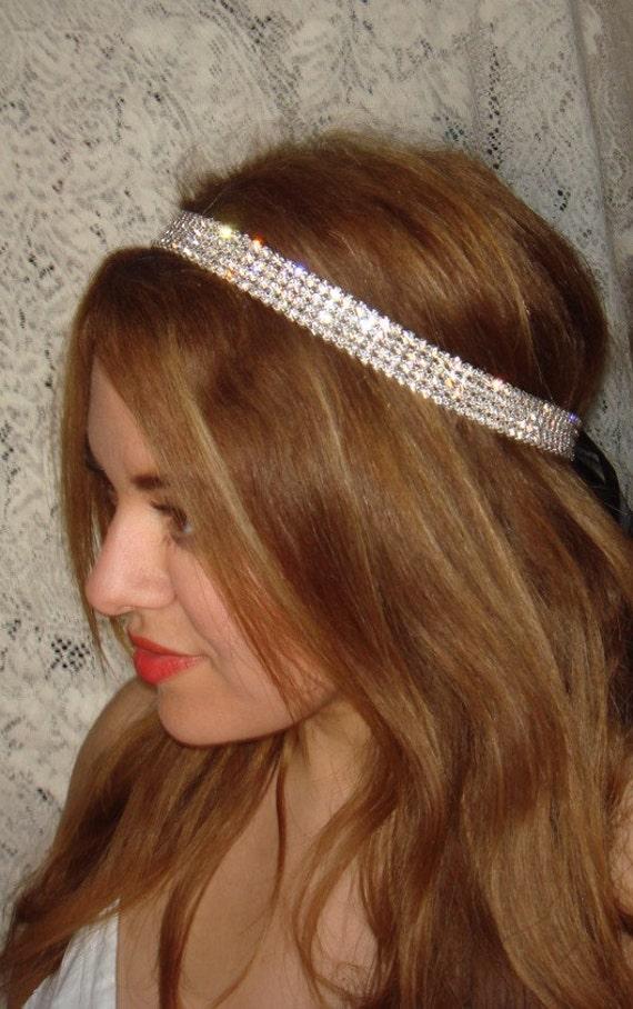 Wedding Headband, Rhinestone Headband- Rock Candy, Weddings, Headbands, Wedding Headpiece, Rhinestone Headband,Bridal Accessories