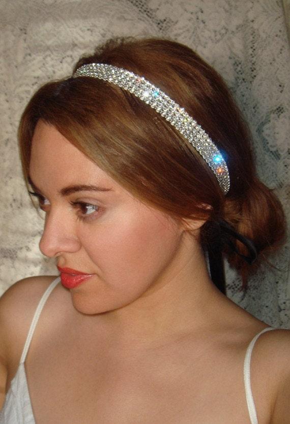 Wedding Headband Rhinestone Headband Rock Candy Weddings