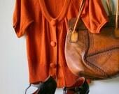 Fantastic Librarian Sweater In Rust Orange