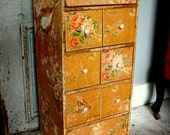 Antique Shabby Sewing Room Drawer Set