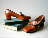 1940s Leather Librarian Shoes