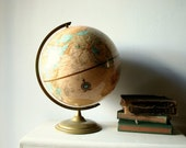 Shabby Old Library Globe