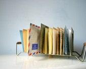 Mid Century Modern Metal Letter Organizer / Mail Keeper
