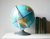 Reserved for YUKA - Vintage 1960s Industrial Metal Globe