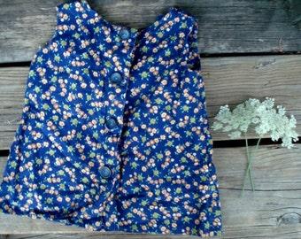 Little Blue Floral Farm Dress