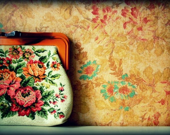 Vintage Tapestry Purse - Photography Print
