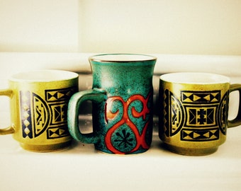 Vintage Mug Set - Photography Print