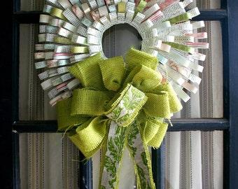 Shabby Fabulous Paper Texture Wreath