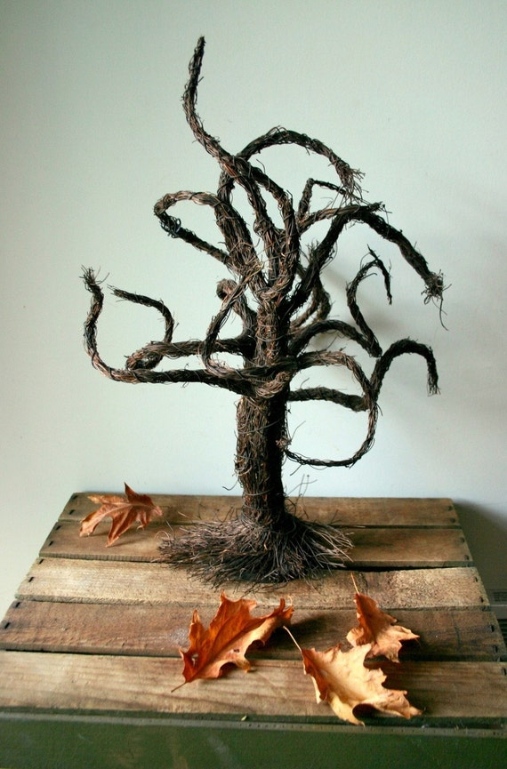 Spooky Autumn Twisted Tree Harvest Decoration
