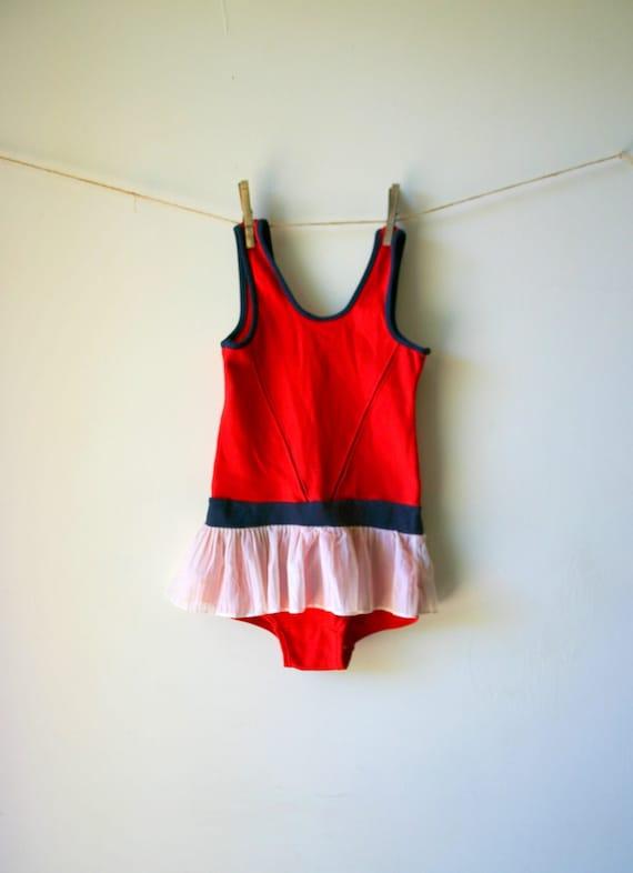 Adorable Vintage Tutu Skirt Swimsuit