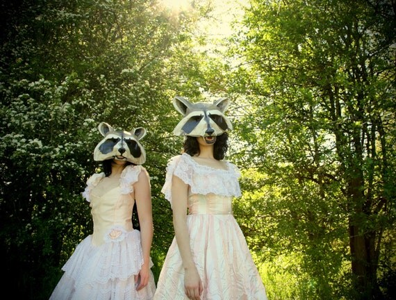 Photography Print - Racoon Masked Women