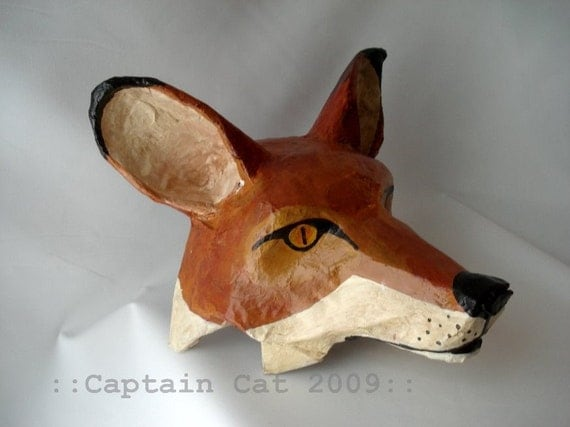 FOX Mask Original Folk Art by CaptainCat