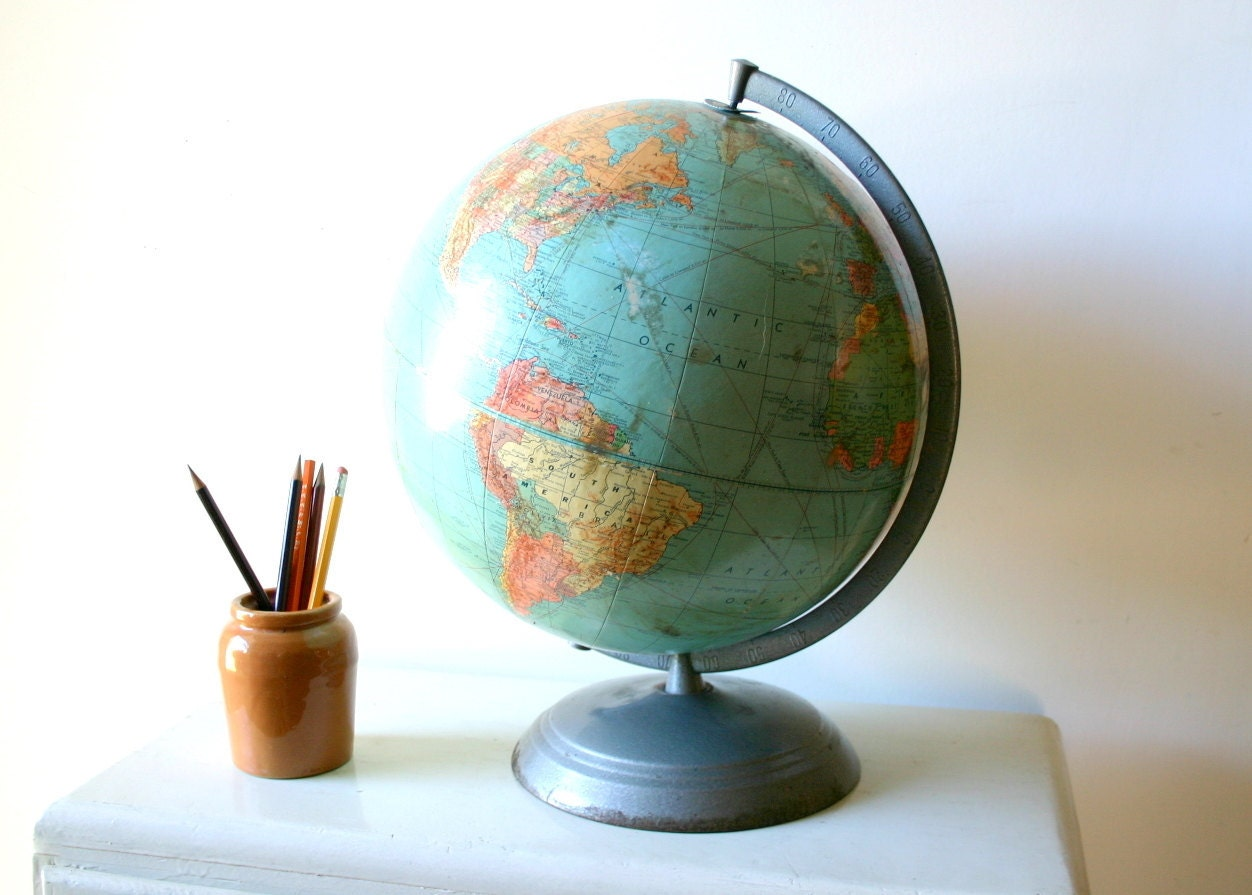 Old Industrial School Globe photography print