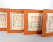 Terra cotta Bunny notecards - REDUCED