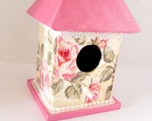 Shabby chic romantic Decorative Birdhouse