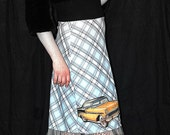 Hot Rod Blues Rockabilly Pencil Skirt....Treasure Worthy.......