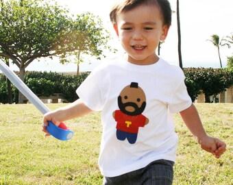 Toddler T-Shirt Looks Like Mr. Tee - Kids White Shirt - Children's Clothing Gift