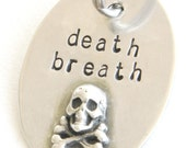 Death Breath Pet ID Tag in Sterling Silver