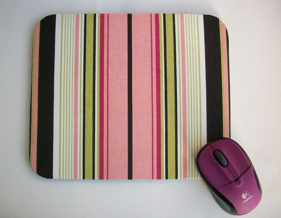 Mouse Pad mousepad / Mat - Rectangle -  Preppy Stripes