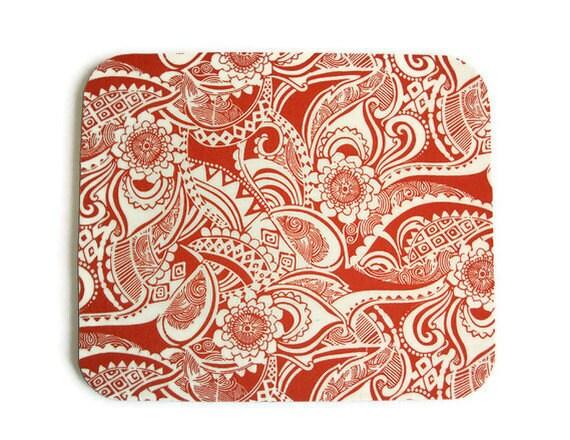 Mouse Pad mousepad / Mat - Rectangle -  Burnt Orange Escapade