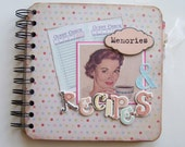 Chipboard Album -- Recipies and Memories