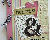 Mini Chipboard Album -- Heart & Soul