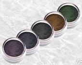 SMOKY EYE Eyeliner Shadow Liner set rich Mineral brown deep black dark blue pigment green vivid purple kit makeup Intense TiaraLx