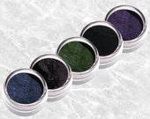 GEMS Black Eyeliner Mineral  Shadow Liner set Rich deep green Dark blue pigment Vivid purple kit Bold makeup Intense matte TiaraLx
