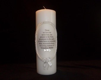 Memory Candle with Name