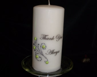 Bridesmaid  Personalized Thank You Candle