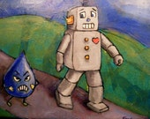 What Robots Fear -8x10 acrylic
