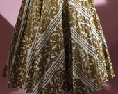 Circle Skirt.1950s Emilio Pucci Hand Painted Circle Skirt with Top. Emilio Pucci. Pin Up Girl. Size 2. Free USA Shipping.