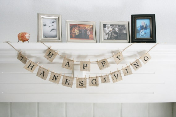 BURLAP SCRABBLE - Holiday Bunting \/ Banner - Customize ANY message
