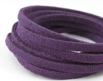 SL05068) 5 meter of 3.0mm Violet Suede Lace