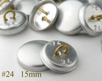CBT0815200) 200pcs 15 mm Wire-eye Back Cover Button (5/8inch, Size 24)