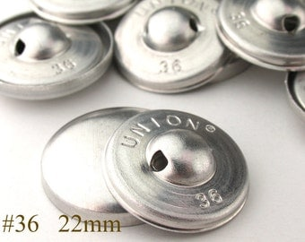 CBT0722025) 25pcs 22 mm Aluminium Back Cover Button (7/8inch, Size 36)