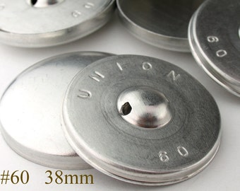CBT0738100) 100pcs 38 mm Aluminium Back Cover Button (1 1/2inch, Size 60)