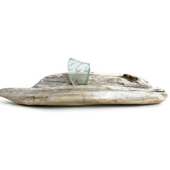 Fine Art Sculpture Super Unique Sea Glass & Driftwood a Very Coastal Beach House Chic Home Decor Accent