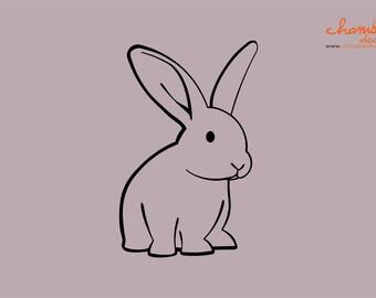 Cute Rabbit Wall Decal