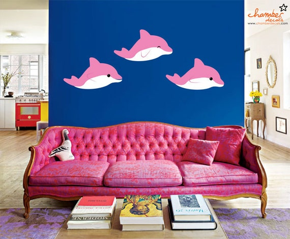 Cute Dolphin Wall Decal