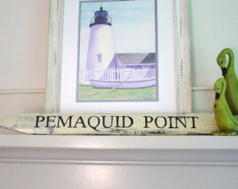 PEMAQUID POINT Picket Sign