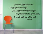 Hope in the Lord -- Isaiah 40 31 Vinyl Wall Decal (b-021)